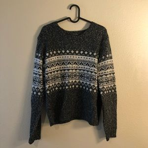 Garage gray fair isle sweater